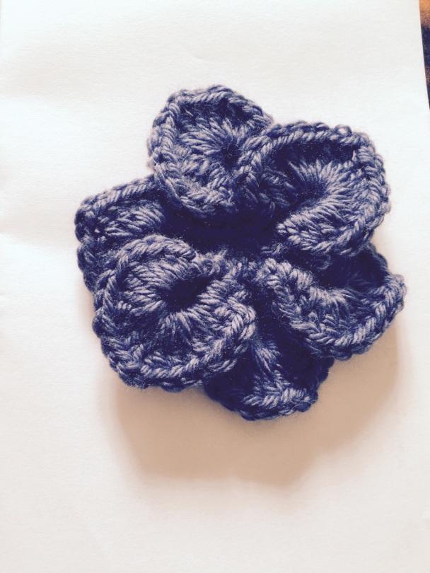 Mrs. S - Crocodile Stitch Flower