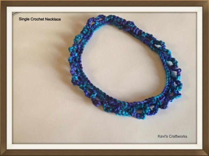 Single crochet necklace
